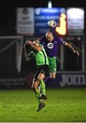 20 November 2020; Joey O'Brien of Shamrock Rovers in action against Adam Foley of Finn Harps during the Extra.ie FAI Cup Quarter-Final match between Finn Harps and Shamrock Rovers at Finn Park in Ballybofey, Donegal. Photo by Seb Daly/Sportsfile