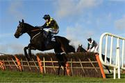 21 November 2020; Gabynako, with Jonathan Moore up, jumps the last on his way to winning the Dimond Walsh Hospitality Maiden Hurdle at Naas Racecourse in Kildare. Photo by Matt Browne/Sportsfile