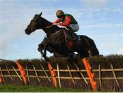 21 November 2020; Call Me Lyreen, with Jack Kennedy up, jump the last on their way to winning the Old Persian at Glenview Stud Fishery Lane Hurdle at Naas Racecourse in Kildare. Photo by Matt Browne/Sportsfile