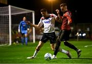 20 November 2020; Brian Gartland of Dundalk in action against Danny Grant of Bohemians during the Extra.ie FAI Cup Quarter-Final match between Bohemians and Dundalk at Dalymount Park in Dublin. Photo by Stephen McCarthy/Sportsfile