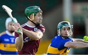 21 November 2020; Brian Concannon of Galway scores his side's second goal during the GAA Hurling All-Ireland Senior Championship Quarter-Final match between Galway and Tipperary at LIT Gaelic Grounds in Limerick. Photo by Piaras Ó Mídheach/Sportsfile