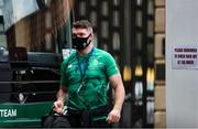 21 November 2020; Peter O'Mahony of Ireland arrives ahead of the Autumn Nations Cup match between England and Ireland at Twickenham Stadium in London, England. Photo by Matt Impey/Sportsfile