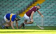21 November 2020; Brian Concannon of Galway gets past Cathal Barrett of Tipperary during the GAA Hurling All-Ireland Senior Championship Quarter-Final match between Galway and Tipperary at LIT Gaelic Grounds in Limerick. Photo by Piaras Ó Mídheach/Sportsfile