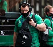 21 November 2020; Cian Healy of Ireland arrives ahead of the Autumn Nations Cup match between England and Ireland at Twickenham Stadium in London, England. Photo by Matt Impey/Sportsfile