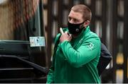 21 November 2020; Iain Henderson of Ireland arrives prior to the Autumn Nations Cup match between England and Ireland at Twickenham Stadium in London, England. Photo by Matt Impey/Sportsfile