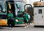 21 November 2020; CJ Stander, left, and Rónan Kelleher of Ireland arrive prior to the Autumn Nations Cup match between England and Ireland at Twickenham Stadium in London, England. Photo by Matt Impey/Sportsfile