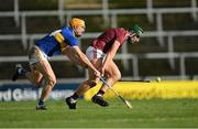 21 November 2020; Fintan Burke of Galway in action against Séamus Callanan of Tipperary during the GAA Hurling All-Ireland Senior Championship Quarter-Final match between Galway and Tipperary at LIT Gaelic Grounds in Limerick. Photo by Piaras Ó Mídheach/Sportsfile