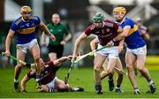 21 November 2020; Cathal Mannion of Galway in action against Pádraic Maher of Tipperary during the GAA Hurling All-Ireland Senior Championship Quarter-Final match between Galway and Tipperary at LIT Gaelic Grounds in Limerick. Photo by David Fitzgerald/Sportsfile