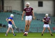 21 November 2020; Jason Flynn of Galway celebrates his side's third goal scored by team-mate Aidan Harte during the GAA Hurling All-Ireland Senior Championship Quarter-Final match between Galway and Tipperary at LIT Gaelic Grounds in Limerick. Photo by David Fitzgerald/Sportsfile