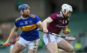 21 November 2020; Shane Cooney of Galway in action against Jason Forde of Tipperary during the GAA Hurling All-Ireland Senior Championship Quarter-Final match between Galway and Tipperary at LIT Gaelic Grounds in Limerick. Photo by Piaras Ó Mídheach/Sportsfile