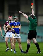 21 November 2020; Referee Johnny Murphy sends off Cathal Barrett of Tipperary during the GAA Hurling All-Ireland Senior Championship Quarter-Final match between Galway and Tipperary at LIT Gaelic Grounds in Limerick. Photo by David Fitzgerald/Sportsfile