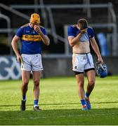 21 November 2020; Tipperary players Séamus Callanan, left, and John McGrath leave the field dejected after the GAA Hurling All-Ireland Senior Championship Quarter-Final match between Galway and Tipperary at LIT Gaelic Grounds in Limerick. Photo by Piaras Ó Mídheach/Sportsfile