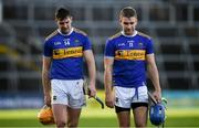 21 November 2020; Séamus Callanan, left, and John McGrath of Tipperary following the GAA Hurling All-Ireland Senior Championship Quarter-Final match between Galway and Tipperary at LIT Gaelic Grounds in Limerick. Photo by David Fitzgerald/Sportsfile
