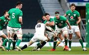 21 November 2020; Hugo Keenan of Ireland is tackled by Elliot Daly of England during the Autumn Nations Cup match between England and Ireland at Twickenham Stadium in London, England. Photo by Matt Impey/Sportsfile