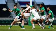 21 November 2020; Elliot Daly of England is tackled by Chris Farrell of Ireland during the Autumn Nations Cup match between England and Ireland at Twickenham Stadium in London, England. Photo by Matt Impey/Sportsfile