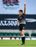 21 November 2020; Referee Pascal Gauzere during the Autumn Nations Cup match between England and Ireland at Twickenham Stadium in London, England. Photo by Matt Impey/Sportsfile