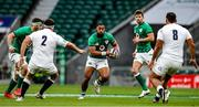 21 November 2020; Bundee Aki of Ireland in action against Jamie George and Billy Vunipola of England during the Autumn Nations Cup match between England and Ireland at Twickenham Stadium in London, England. Photo by Matt Impey/Sportsfile