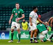 21 November 2020; Ireland captain James Ryan looks at the scoreboard during the Autumn Nations Cup match between England and Ireland at Twickenham Stadium in London, England. Photo by Matt Impey/Sportsfile