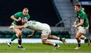 21 November 2020; Keith Earls of Ireland is tackled by Tom Curry of England during the Autumn Nations Cup match between England and Ireland at Twickenham Stadium in London, England. Photo by Matt Impey/Sportsfile