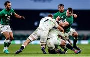 21 November 2020; Cian Healy of Ireland is tackled by Sam Underhill and Billy Vunipola of England during the Autumn Nations Cup match between England and Ireland at Twickenham Stadium in London, England. Photo by Matt Impey/Sportsfile
