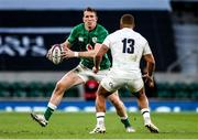 21 November 2020; Chris Farrell of Ireland in action against Ollie Lawrence of England during the Autumn Nations Cup match between England and Ireland at Twickenham Stadium in London, England. Photo by Matt Impey/Sportsfile