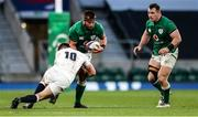 21 November 2020; CJ Stander of Ireland is tackled by Owen Farrell of England during the Autumn Nations Cup match between England and Ireland at Twickenham Stadium in London, England. Photo by Matt Impey/Sportsfile