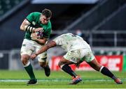 21 November 2020; Peter O'Mahony of Ireland is tackled by Kyle Sinkler of England during the Autumn Nations Cup match between England and Ireland at Twickenham Stadium in London, England. Photo by Matt Impey/Sportsfile