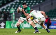 21 November 2020; James Ryan of Ireland is tackled by Sam Underhill of England during the Autumn Nations Cup match between England and Ireland at Twickenham Stadium in London, England. Photo by Matt Impey/Sportsfile