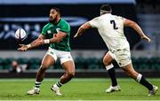 21 November 2020; Bundee Aki of Ireland in action against Jamie George of England during the Autumn Nations Cup match between England and Ireland at Twickenham Stadium in London, England. Photo by Matt Impey/Sportsfile