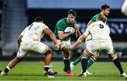 21 November 2020; Caelan Doris of Ireland in action against Mako Vunipola and Joe Launchbury of England during the Autumn Nations Cup match between England and Ireland at Twickenham Stadium in London, England. Photo by Matt Impey/Sportsfile