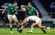 21 November 2020; James Lowe of Ireland is tackled by Henry Slade of England during the Autumn Nations Cup match between England and Ireland at Twickenham Stadium in London, England. Photo by Matt Impey/Sportsfile