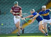 21 November 2020; Brian Concannon of Galway in action against Cathal Barrett and Brendan Maher of Tipperary, right, during the GAA Hurling All-Ireland Senior Championship Quarter-Final match between Galway and Tipperary at LIT Gaelic Grounds in Limerick. Photo by Piaras Ó Mídheach/Sportsfile