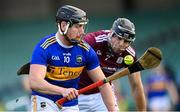 21 November 2020; Dan McCormack of Tipperary in action against Joseph Cooney of Galway during the GAA Hurling All-Ireland Senior Championship Quarter-Final match between Galway and Tipperary at LIT Gaelic Grounds in Limerick. Photo by Piaras Ó Mídheach/Sportsfile