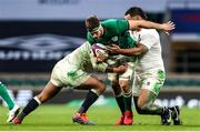 21 November 2020; Caelan Doris of Ireland is tackled by Billy Vunipola of England during the Autumn Nations Cup match between England and Ireland at Twickenham Stadium in London, England. Photo by Matt Impey/Sportsfile