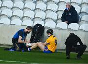 21 November 2020; Tony Kelly of Clare has his foot strapped during the GAA Hurling All-Ireland Senior Championship Quarter-Final match between Clare and Waterford at Pairc Uí Chaoimh in Cork. Photo by Eóin Noonan/Sportsfile
