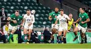 21 November 2020; Peter O'Mahony of Ireland in action against Elliot Daly of England during the Autumn Nations Cup match between England and Ireland at Twickenham Stadium in London, England. Photo by Matt Impey/Sportsfile