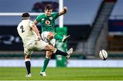 21 November 2020; Ross Byrne of Ireland in action against Jamie George of England during the Autumn Nations Cup match between England and Ireland at Twickenham Stadium in London, England. Photo by Matt Impey/Sportsfile
