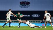 21 November 2020; Keith Earls of Ireland is tackled by Owen Farrell and Ollie Lawrence of England during the Autumn Nations Cup match between England and Ireland at Twickenham Stadium in London, England. Photo by Matt Impey/Sportsfile