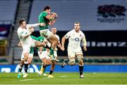 21 November 2020; Hugo Keenan of Ireland in action against Elliot Daly of England during the Autumn Nations Cup match between England and Ireland at Twickenham Stadium in London, England. Photo by Matt Impey/Sportsfile