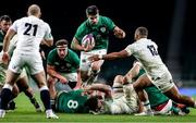 21 November 2020; Conor Murray of Ireland is tackled by Ollie Lawrence of England during the Autumn Nations Cup match between England and Ireland at Twickenham Stadium in London, England. Photo by Matt Impey/Sportsfile