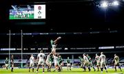 21 November 2020; James Ryan of Ireland wins possession in the line-out ahead of Maro Itoje of England during the Autumn Nations Cup match between England and Ireland at Twickenham Stadium in London, England. Photo by Matt Impey/Sportsfile