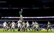 21 November 2020; Peter O'Mahony of Ireland wins possession in the line-out during the Autumn Nations Cup match between England and Ireland at Twickenham Stadium in London, England. Photo by Matt Impey/Sportsfile