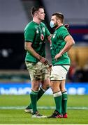 21 November 2020; Ireland captain James Ryan, left, and CJ Stander after the Autumn Nations Cup match between England and Ireland at Twickenham Stadium in London, England. Photo by Matt Impey/Sportsfile