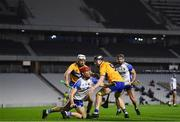 21 November 2020; Tadhg De Búrca of Waterford in action against Tony Kelly of Clare during the GAA Hurling All-Ireland Senior Championship Quarter-Final match between Clare and Waterford at Pairc Uí Chaoimh in Cork. Photo by Harry Murphy/Sportsfile