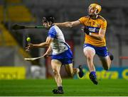 21 November 2020; Jamie Barron of Waterford is tackled David Fitzgerald of Clare during the GAA Hurling All-Ireland Senior Championship Quarter-Final match between Clare and Waterford at Pairc Uí Chaoimh in Cork. Photo by Eóin Noonan/Sportsfile