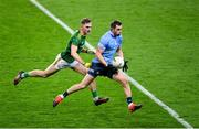 21 November 2020; Dean Rock of Dublin in action against Conor McGill of Meath during the Leinster GAA Football Senior Championship Final match between Dublin and Meath at Croke Park in Dublin. Photo by Ramsey Cardy/Sportsfile