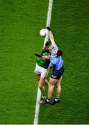 21 November 2020; Brian Fenton of Dublin in action against Bryan Menton of Meath during the Leinster GAA Football Senior Championship Final match between Dublin and Meath at Croke Park in Dublin. Photo by Daire Brennan/Sportsfile