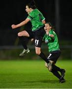 21 November 2020; Áine O'Gorman of Peamount United celebrates after scoring her side's first goal during the Women's National League match between Peamount United and Shelbourne at PRL Park in Greenogue, Dublin. Photo by Seb Daly/Sportsfile