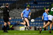21 November 2020; Seán Bugler of Dublin on his way to scoring Dublin's second goal, in the 23rd minute, during the Leinster GAA Football Senior Championship Final match between Dublin and Meath at Croke Park in Dublin. Photo by Ray McManus/Sportsfile