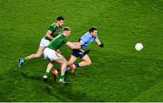 21 November 2020; Dean Rock of Dublin in action against Donal Keogan, left, and Mathew Costello of Meath during the Leinster GAA Football Senior Championship Final match between Dublin and Meath at Croke Park in Dublin. Photo by Daire Brennan/Sportsfile